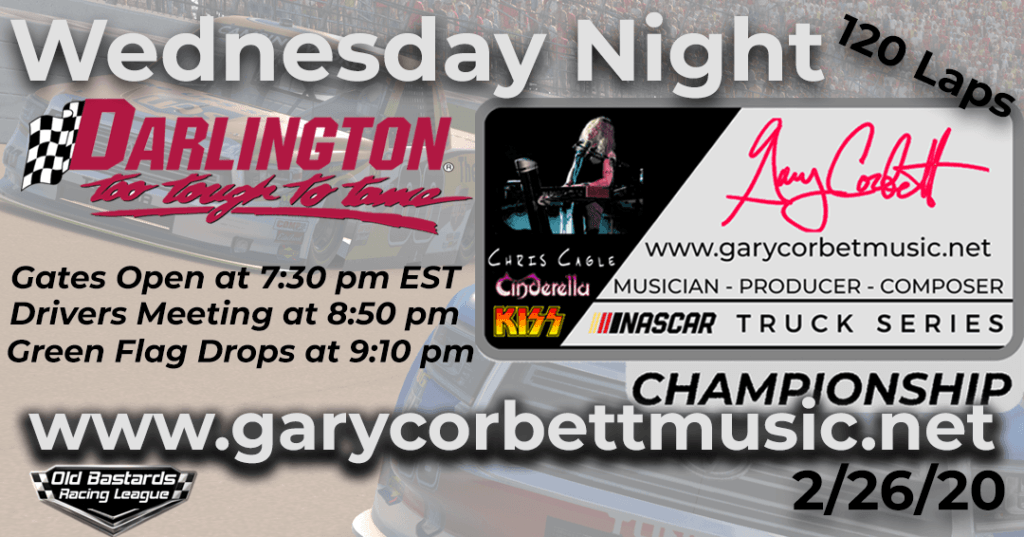 Nascar Gary Corbett Music Truck Series Race at Darlington Raceway