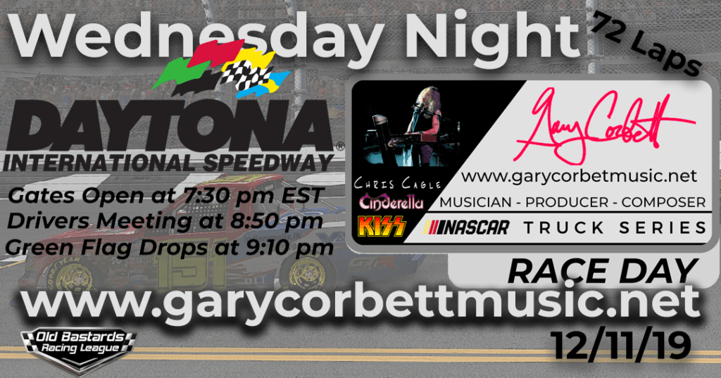 Nascar Gary Corbett Grammy Winning Keyboardist Truck Series Race at Daytona International Speedway