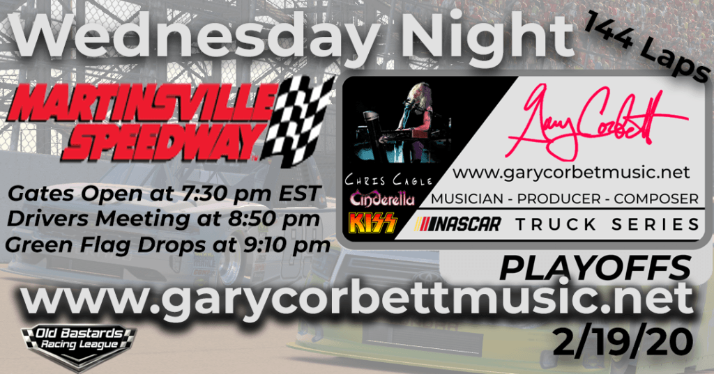 Gary Corbett Music Truck Series Race at Martinsville Speedway
