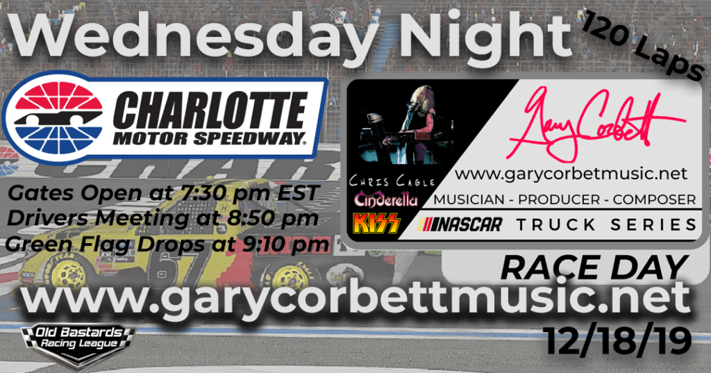 Nascar Gary Corbett Multi Platinum Producer Truck Series Race at Charlotte Motor Speedway