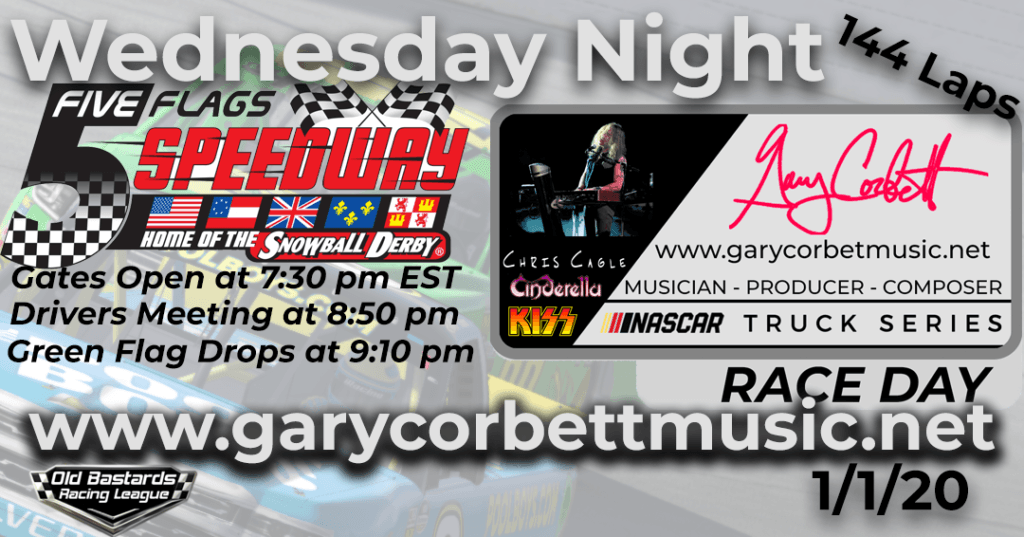 Nascar Gary Corbett Damian Marley Keyboardist Truck Series Race at 5 Flags Speedway