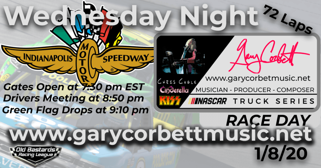 Nascar Gary Corbett Nelson Twins Band Keyboardist Truck Series Race at Indianapolis Motor Speedway