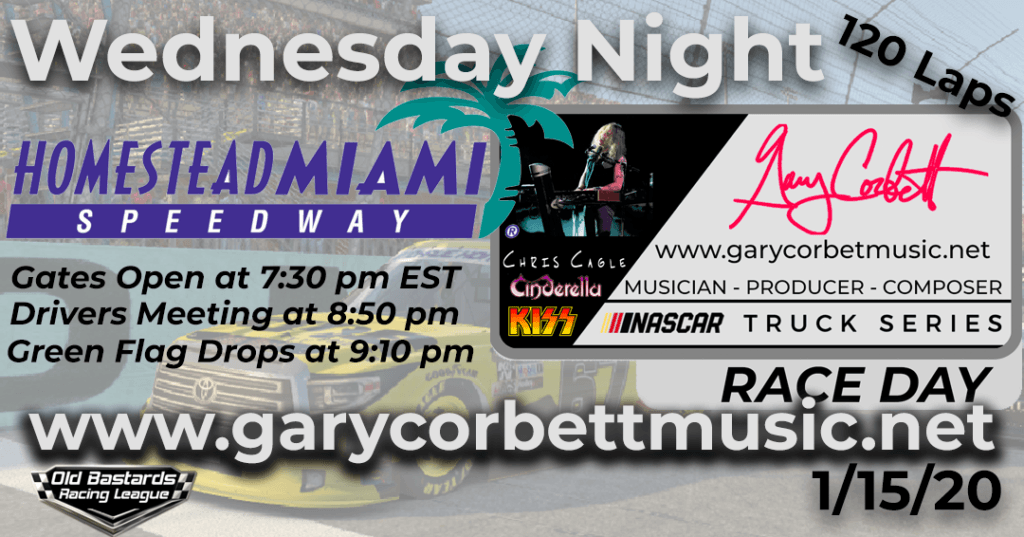 Nascar Gary Corbett Chris Cagle Keyboardist Truck Series Race at Homestead-Miami Speedway