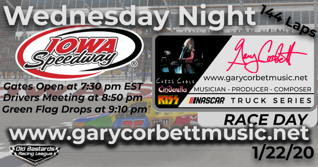 Nascar Gary Corbett Cinderella Keyboardist Truck Series Race at Iowa Speedway